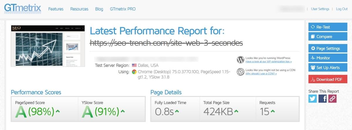 Améliorez la vitesse de votre site internet