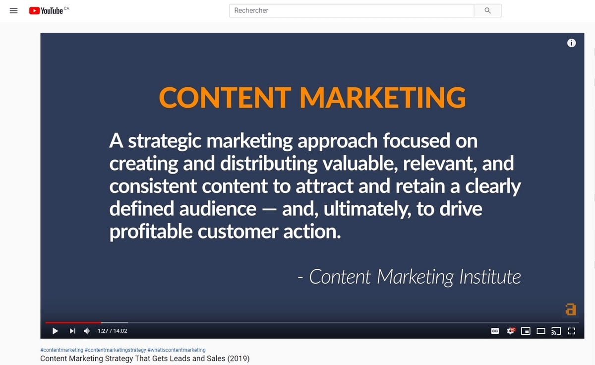 why is content marketing important - Ahrefs Sam Oh YouTube Video